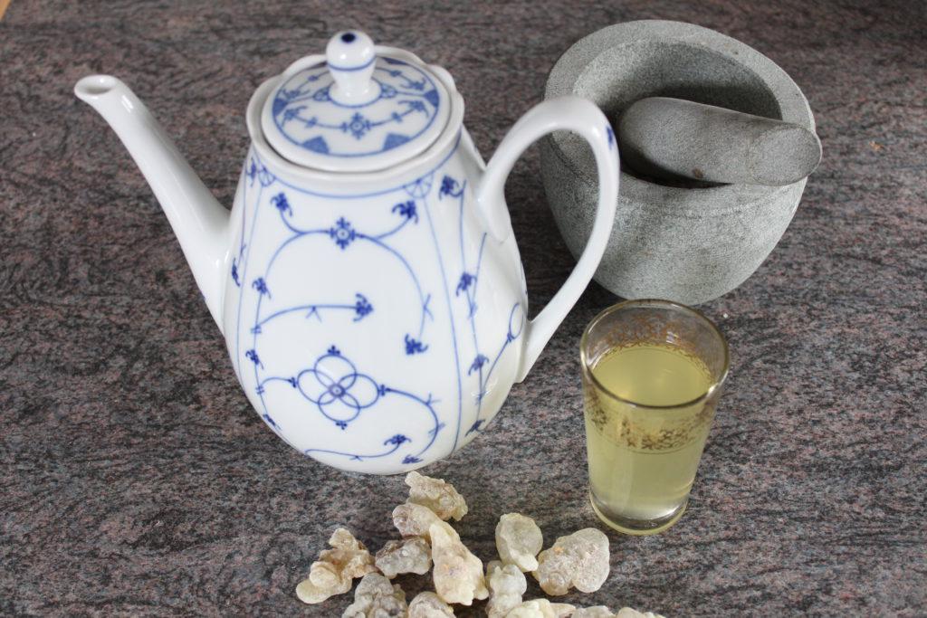 Rezept Weihrauch-Tee (letzter Schritt)